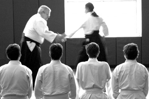 aikido-viendo una clase cortado